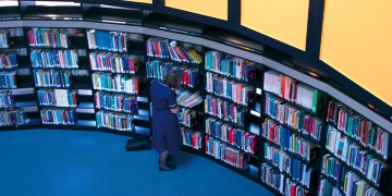blue library image